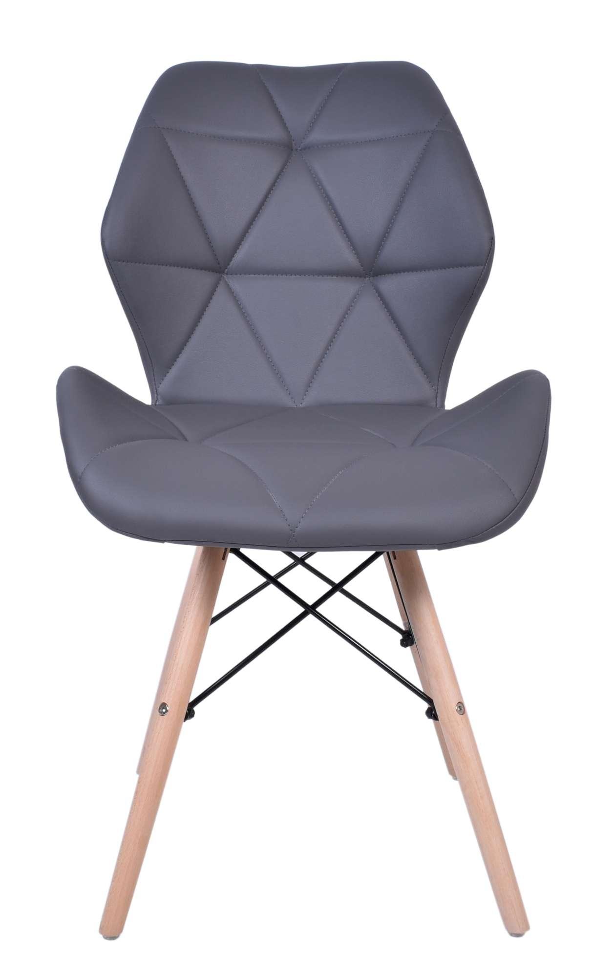 grafitowe nowoczesne krzesła