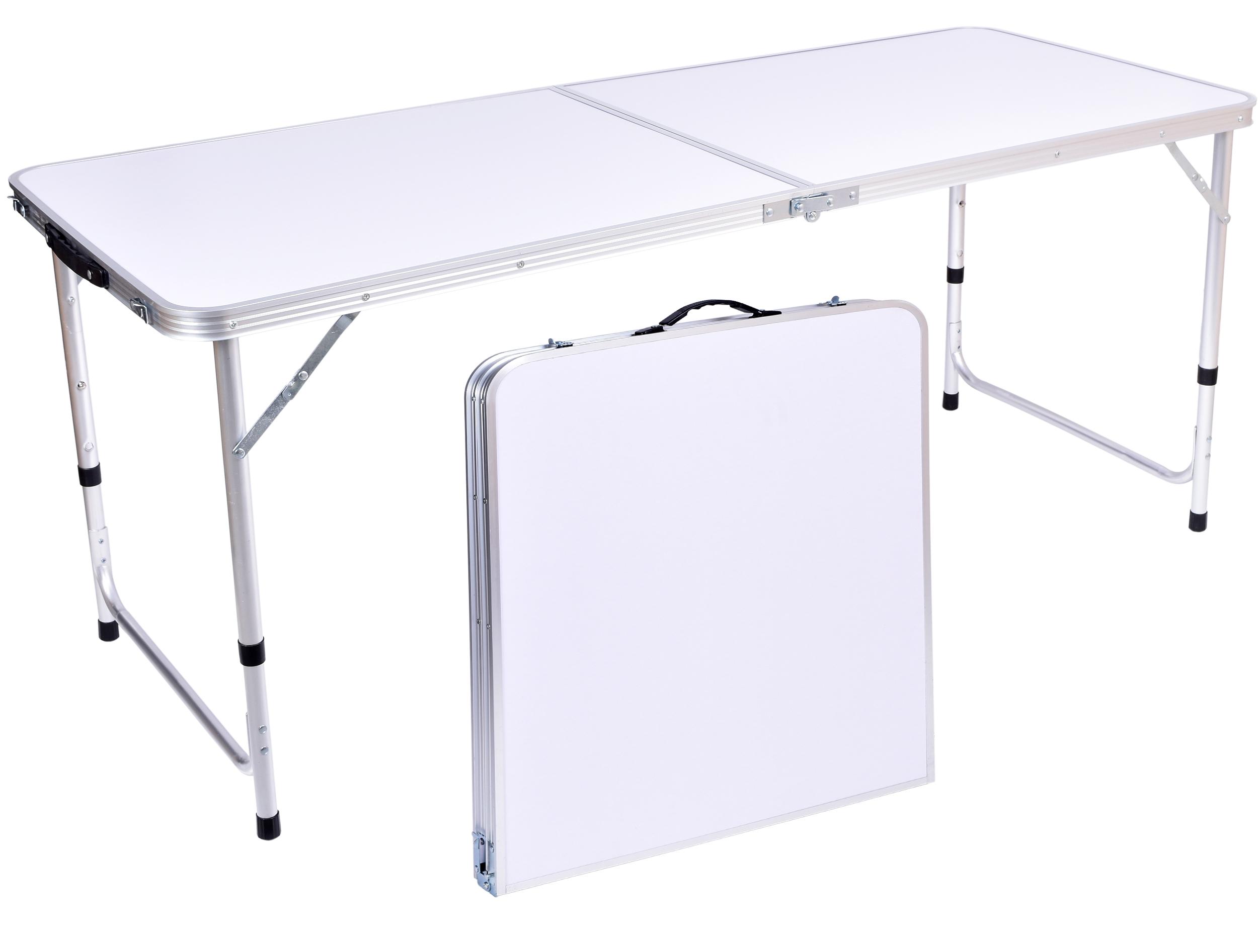 Stół Turystyczny Flow Kempingowy Składany 150x60 Cm Biały